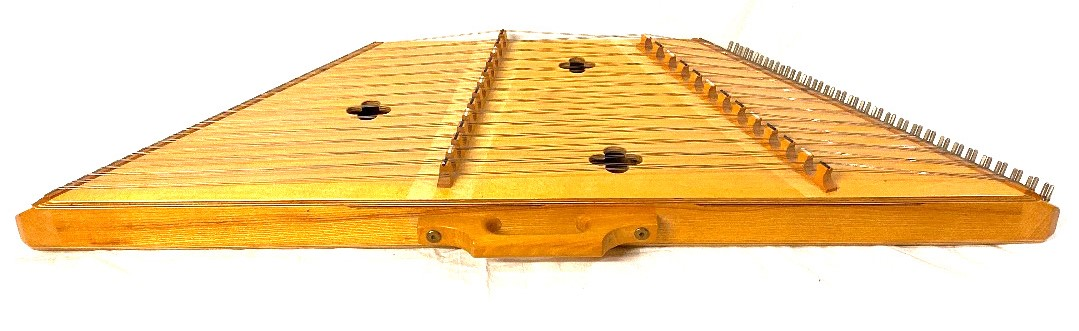 Lot 179 - Roger Frood Dove Dulcimers 'Silkie' Hammered Dulcimer together with two sets of hammers, tuning