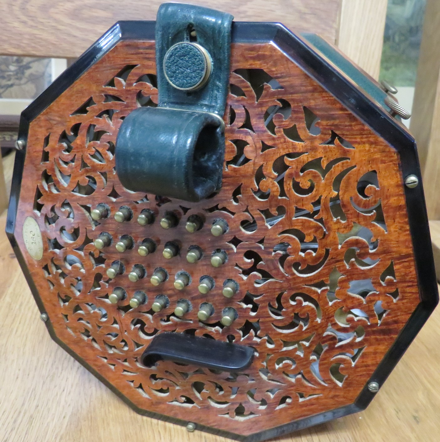 Lot 182 - Colin Dipper forty-eight button 'English' system concertina tenor (viola range) with top note F