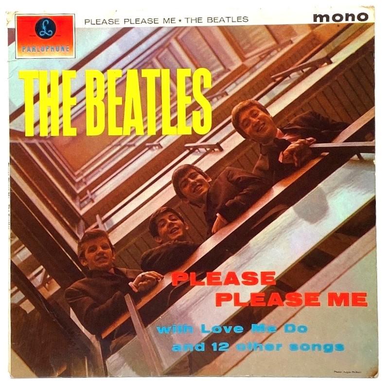 Lot 167 - Beatles LP 'Please Please Me' (PMC 1202, XEX 421(2)-IN) black and yellow label (mono)