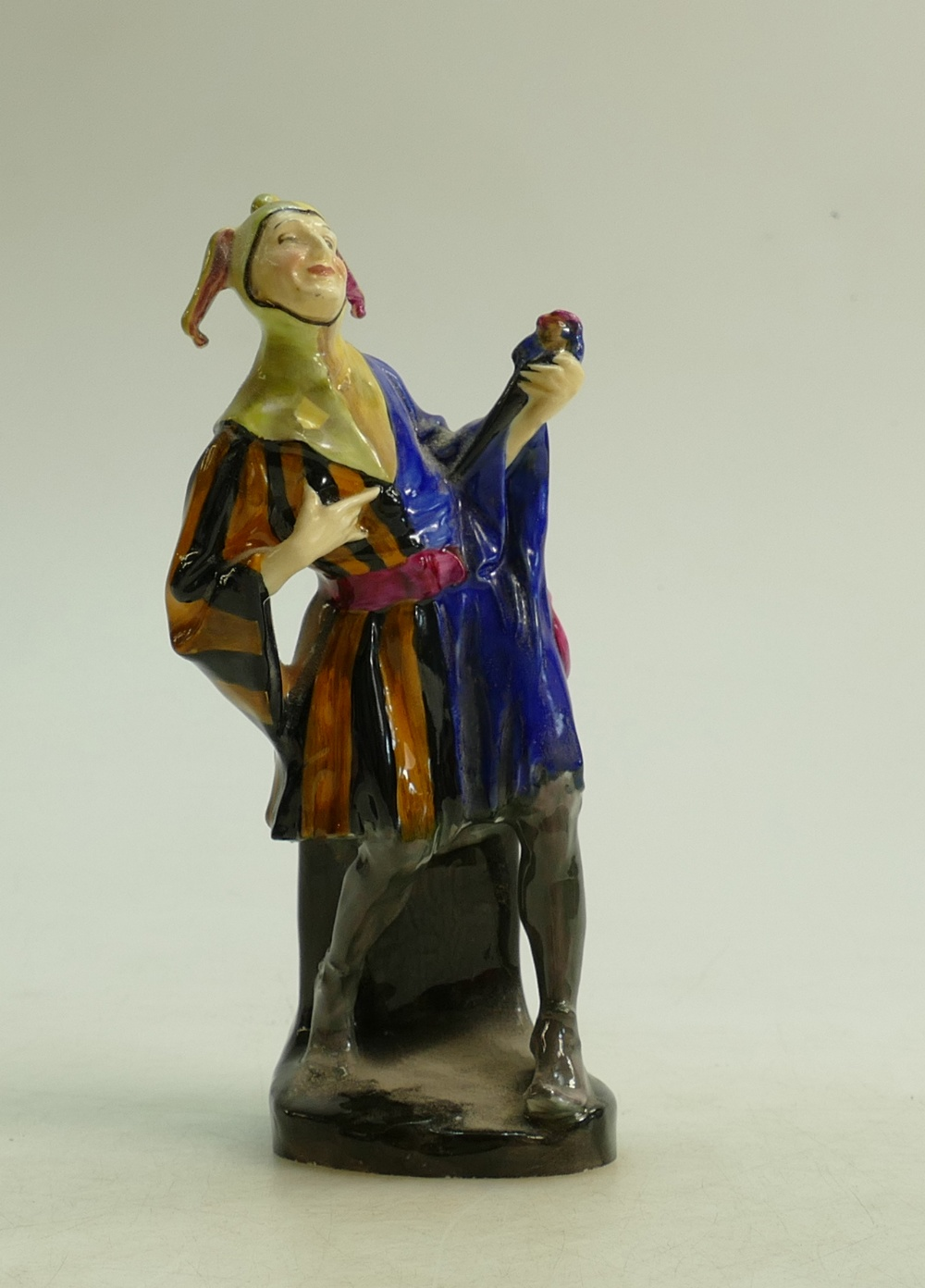 Lot 43 - Royal Doulton figure Jack Point HN610 dated 1927: Two small hairline cracks to base