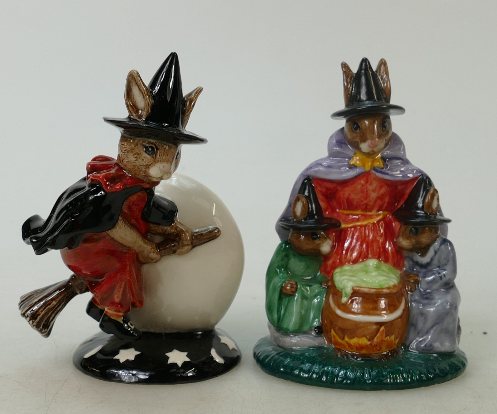 Lot 13 - Royal Doulton Bunnykins figure Trick or Treat and Witches Cauldron: Bunnykins Trick or Treat DB162