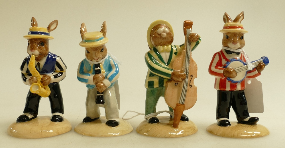 Lot 9 - Royal Doulton Bunnykins Figures from the Jazz Band Collection: Figures comprising Clarinet Player