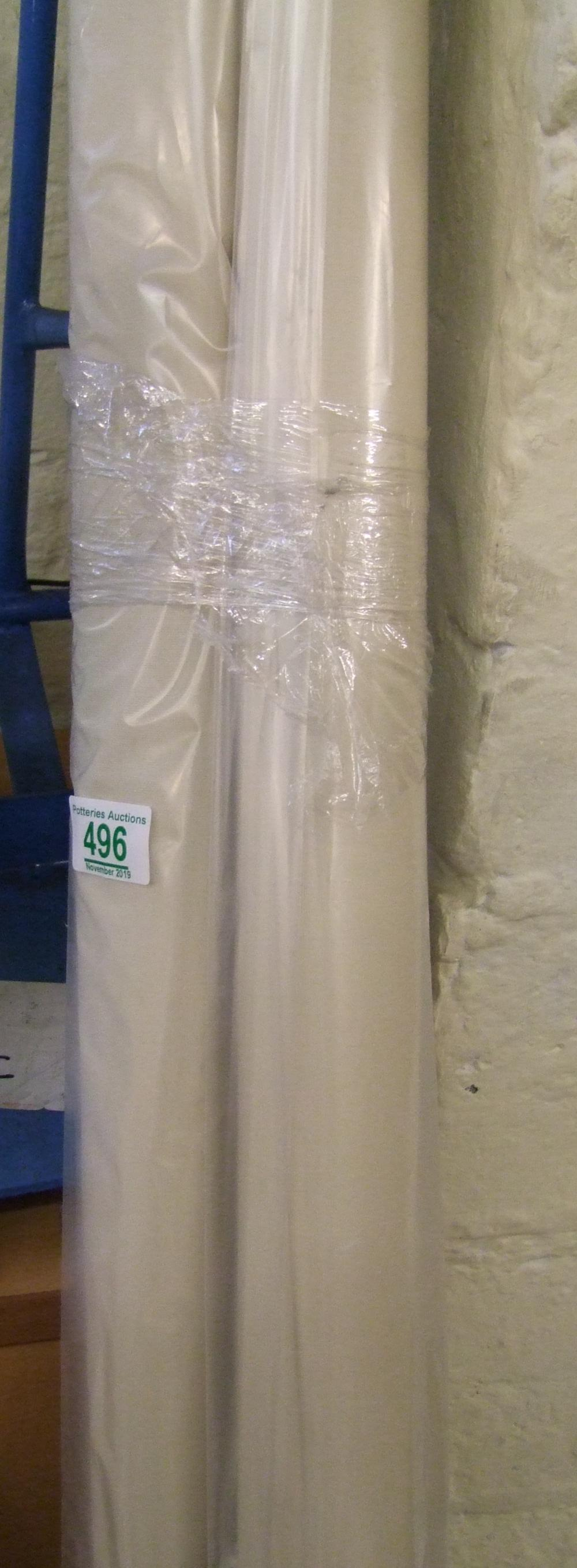 Lot 496 - 2 cream roller blinds: 2588mm x 1780mm and 1372mm x 1930mm.