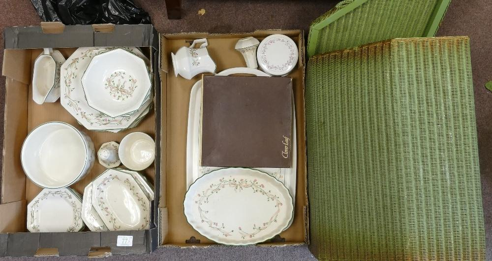 Lot 77 - A mixed collection of items to include: Johnson Bros eternal Beau dinner ware & LLoyd Loom