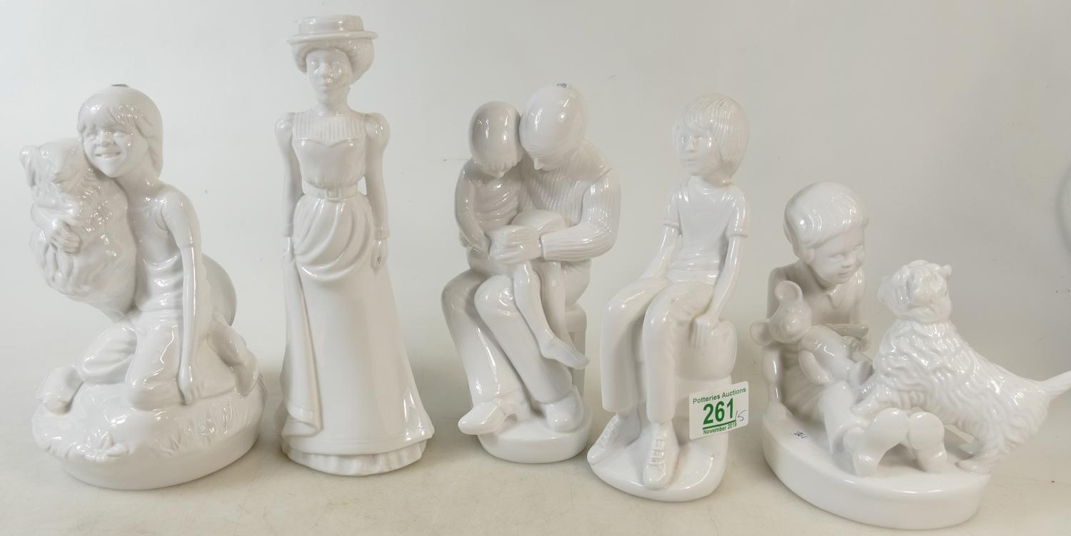 Lot 261 - A Collection of Pauline Shone Figures to include: Emily, Playtime, Michael, Best Friends and Story