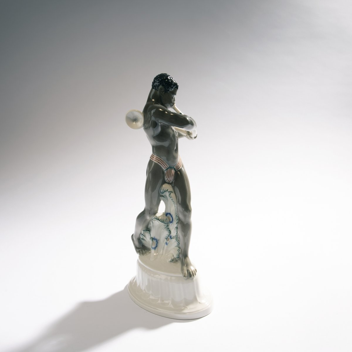 Lot 48 - Adolph Amberg, 'African man', 1910'African man', 1910H. 32 cm. Made by KPM Berlin, in 1912.