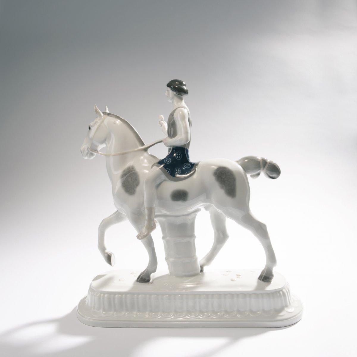 Lot 41 - Adolph Amberg, 'Bridegroom', 1910'Bridegroom', 1910H. 40.5 cm, 42 x 13.3 cm. Made by KPM Berlin,