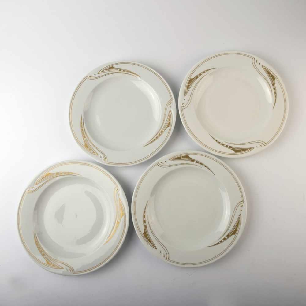 Lot 25 - Henry van de Velde, Four dinner plates 'Whip lash', 1903/04Four dinner plates 'Whip lash', 1903/04D.