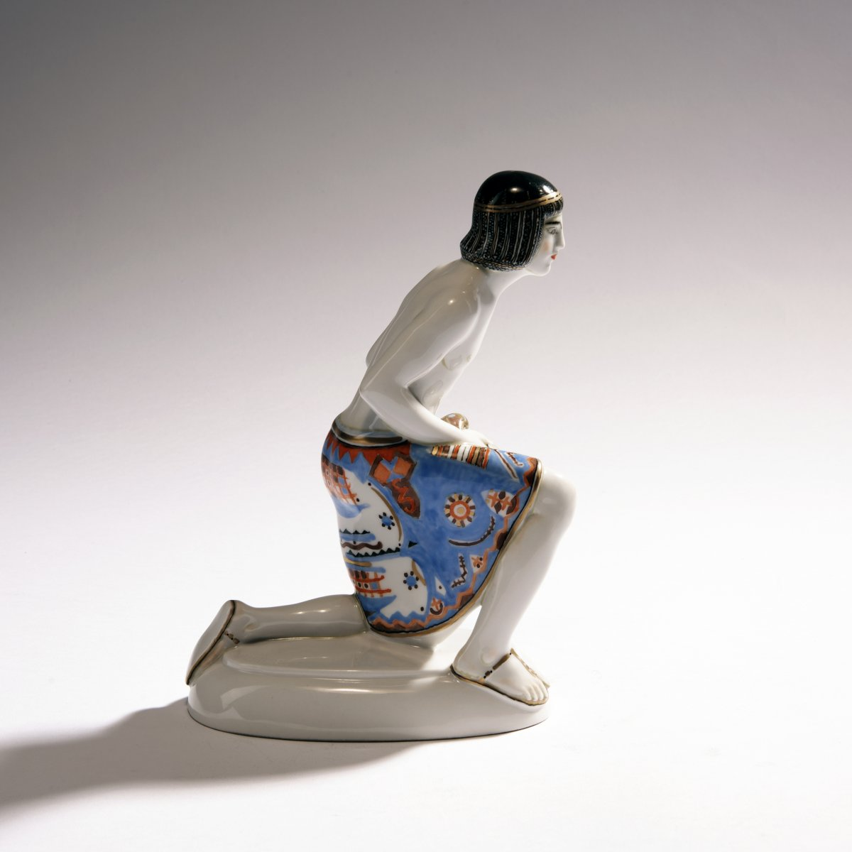 Lot 42 - Adolph Amberg, 'Egyptian', 1910'Egyptian', 1910H. 21 cm. Made by KPM Berlin, in 1914. Porcelain,