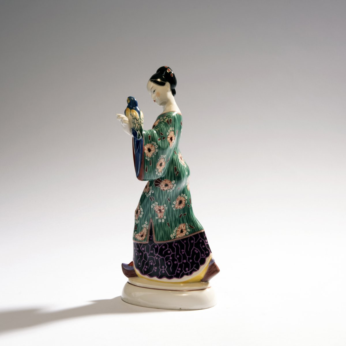 Lot 57 - Adolph Amberg, 'Chinese woman', 1910'Chinese woman', 1910H. 27.3 cm. Made by KPM Berlin.