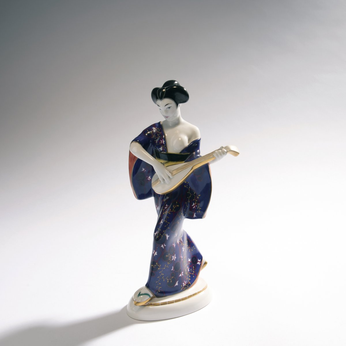Lot 37 - Adolph Amberg, 'Japanese woman', 1909'Japanese woman', 1909H. 27 cm. Made by StPM Berlin, 1924.