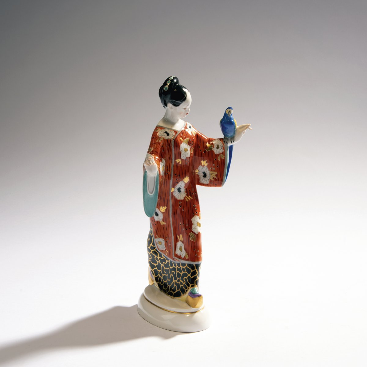 Lot 52 - Adolph Amberg, 'Chinese woman', 1910'Chinese woman', 1910H. 26.5 cm. Made by StPM Berlin, presumably