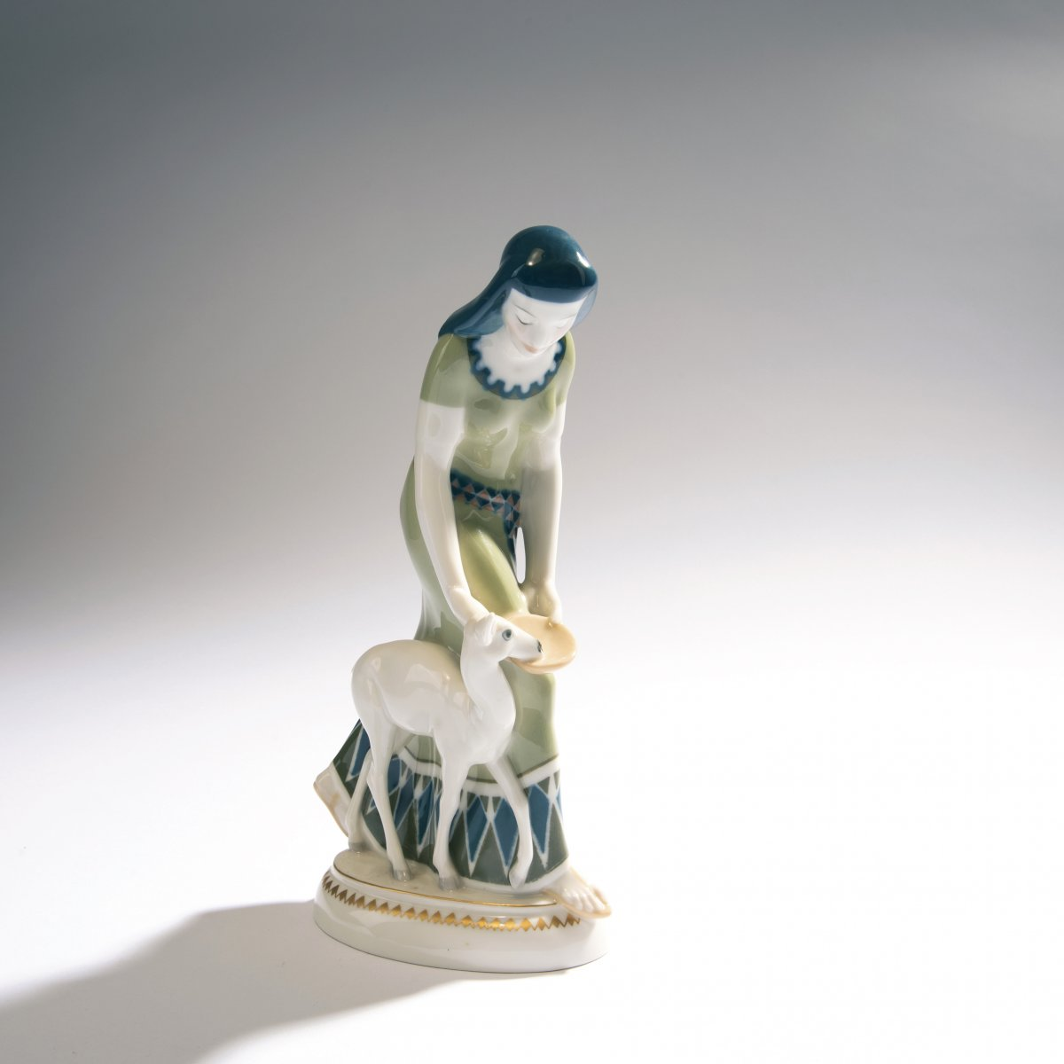 Lot 53 - Adolph Amberg, 'Egyptian woman', 1910'Egyptian woman', 1910H. 24.5 cm. Made by KPM Berlin, in