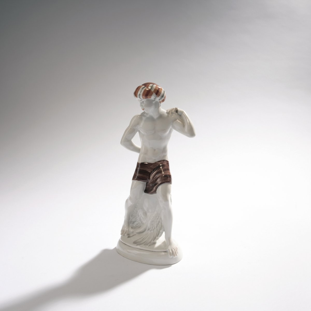 Lot 46 - Adolph Amberg, 'Indian', 1910'Indian', 1910H. 26,7 cm. Made by StPM Berlin, in 1920. Porcelain,