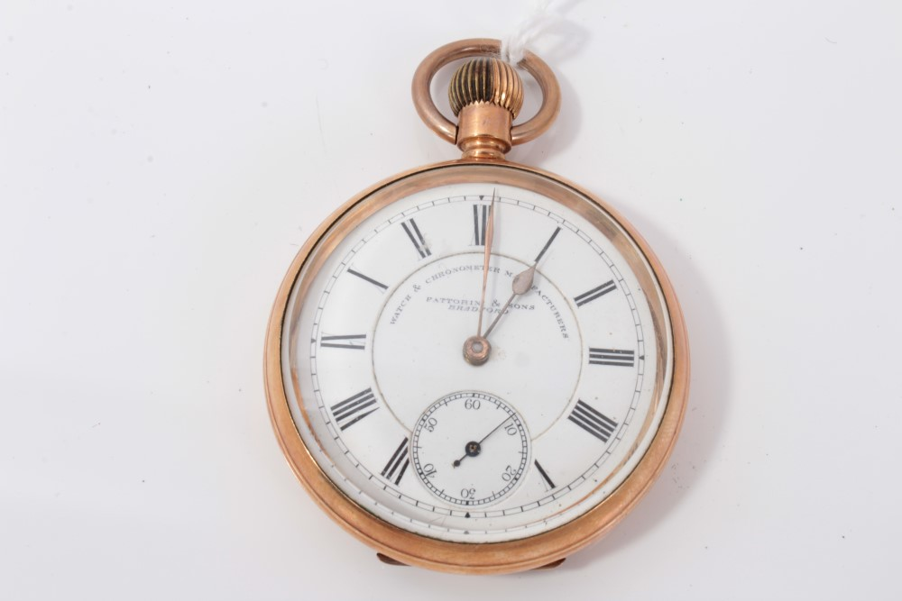 Lot 3304 - Gold plated Fattorini & Sons pocket watch