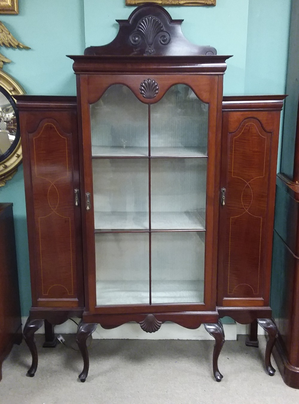 Lot 38 - Edw Inlaid Mahogany Display Cabinet