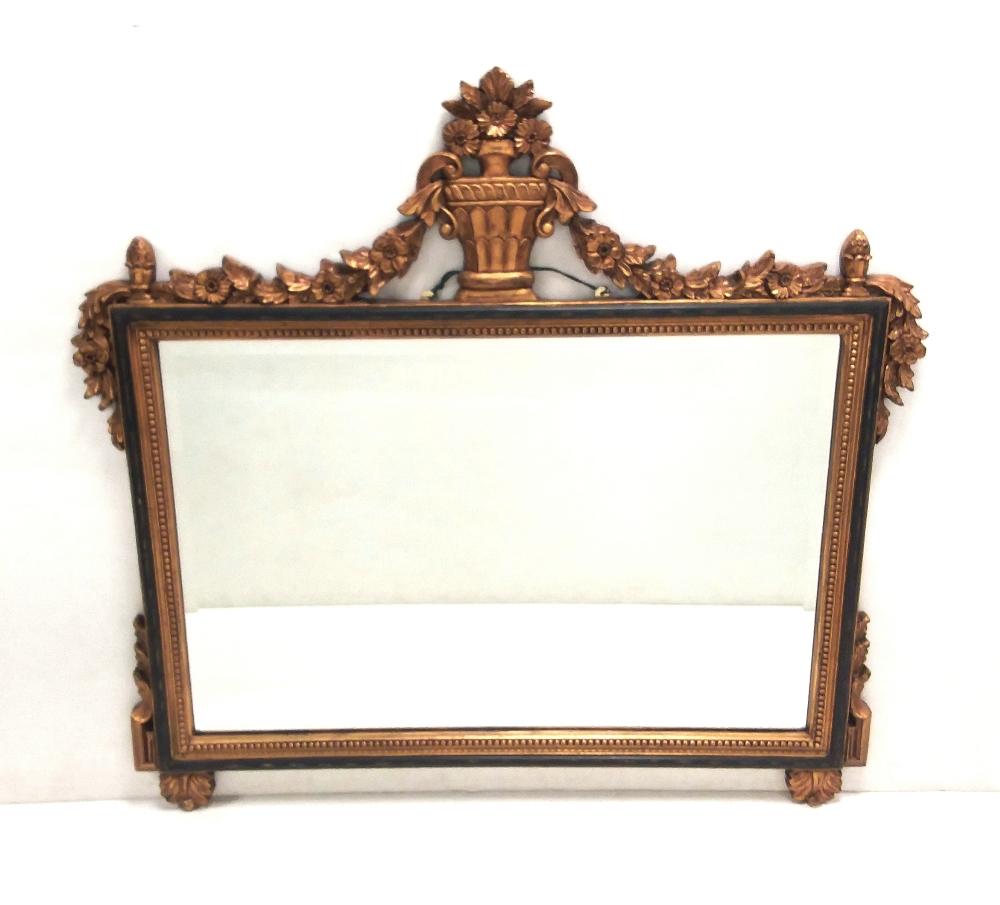 Lot 17 - Gilt Overmantle Mirror Dimensions: 109cm W 106cm L