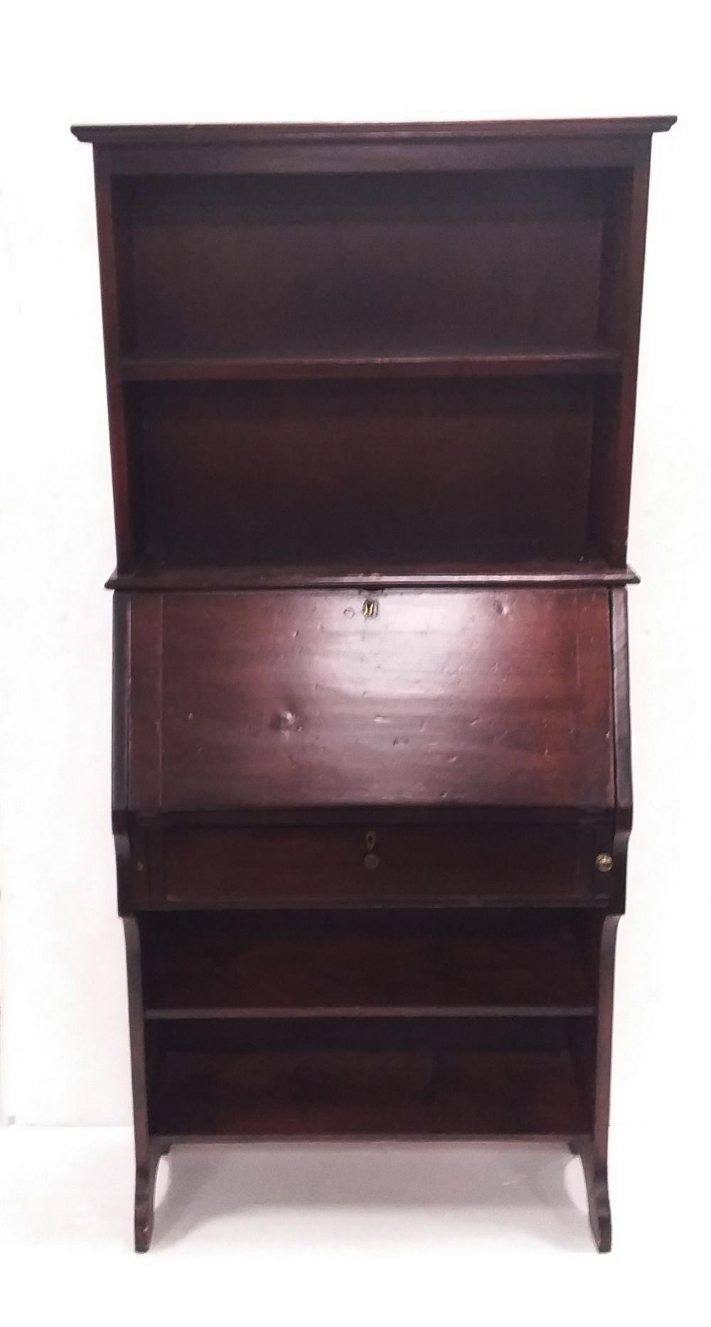 Lot 20 - Vintage Bureau Bookcase