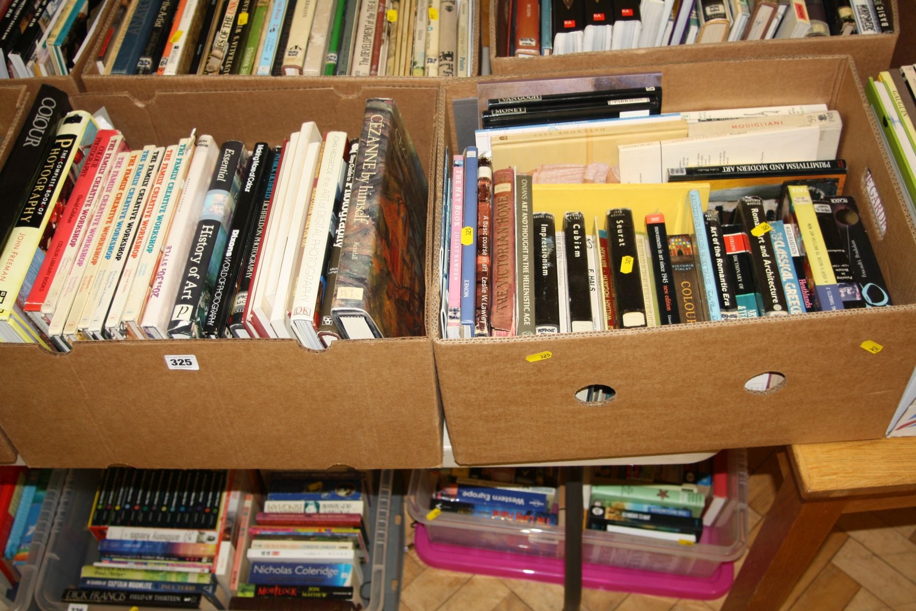 Lot 325 - TWO TRAYS OF BOOKS, on Art, Artists and Photography