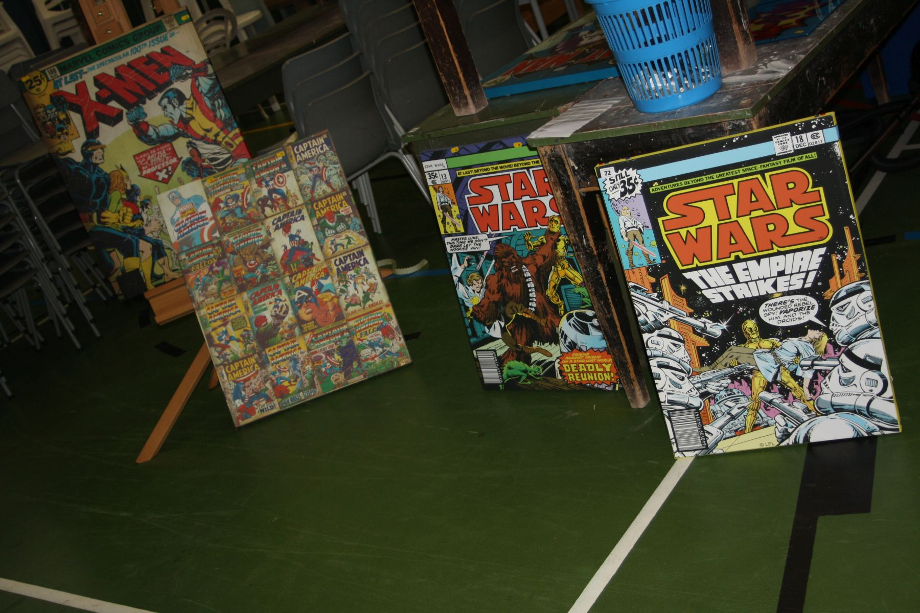Lot 72 - FOUR CANVAS PRINTS FROM STAR WARS AND MARVEL COMIC COVERS, two are Star Wars 50x70cm, one X-Men