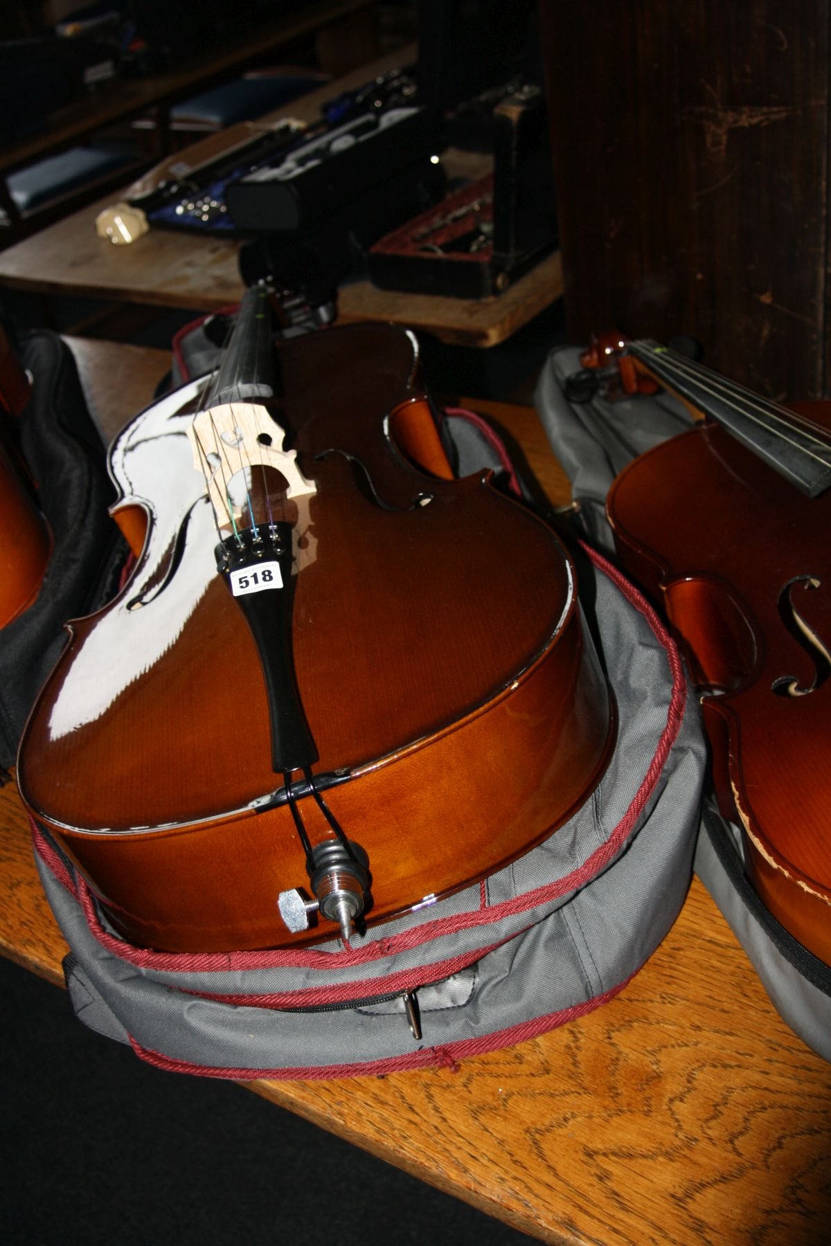 Lot 518 - A STENTOR STUDENT 2 1/2 SIZE CELLO, with bow and padded case 110cm long