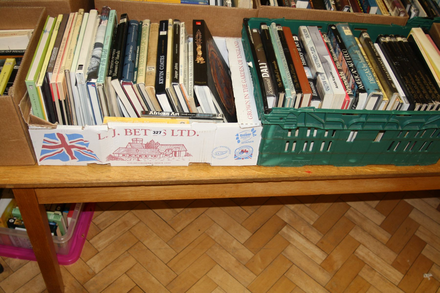 Lot 327 - TWO TRAYS OF BOOKS, on Art, Artists and Furniture