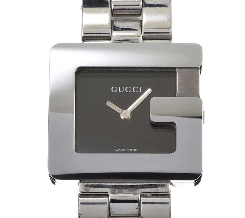 Lot 191 - GUCCI 'G' STAINLESS STEEL LADY'S WRIST WATCH