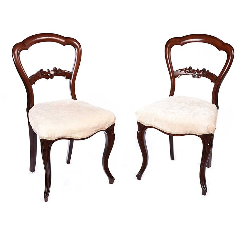 Lot 21 - PAIR OF VICTORIAN BALLOON BACK OCCASIONAL CHAIRS