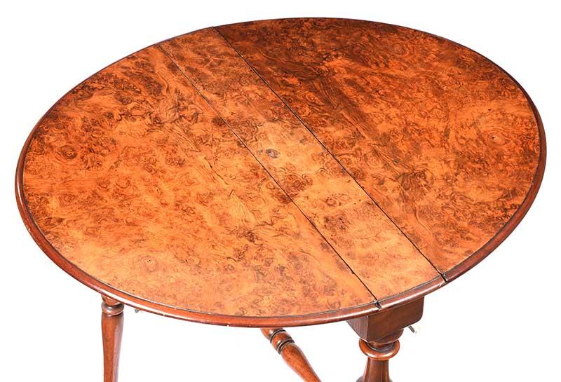 Lot 52 - VICTORIAN WALNUT SUTHERLAND TABLE