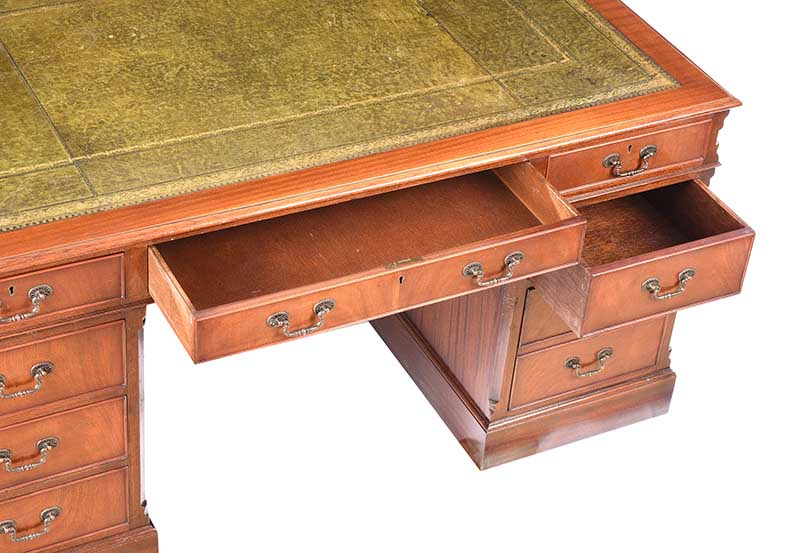 Lot 24 - MAHOGANY PARTNERS DESK