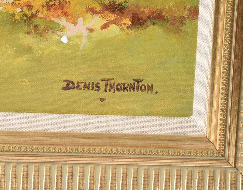 Lot 48 - OIL SIGNED DENIS THORNTON