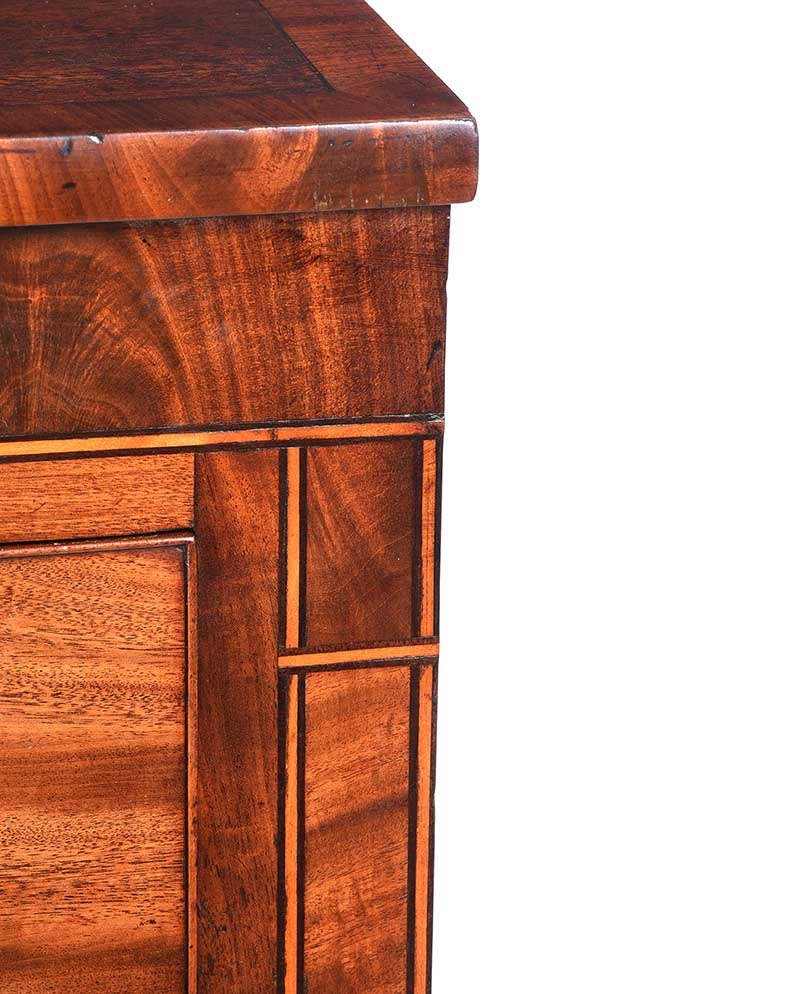 Lot 44 - VICTORIAN MAHOGANY CHEST OF DRAWERS