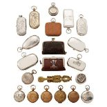 A collection of eight silver sovereign cases, to include a full and half sovereign case,