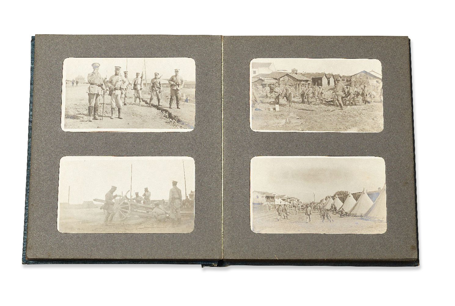 Lot 234 - An album of seventy eight photographs, attributed to show images of the Battle of Yangxia in1911,
