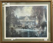 TOM KEATING (1917-1984) British, John Constable at Flatford Mill, limited edition print, signed,