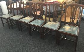 A set of six Edwardian dining chairs