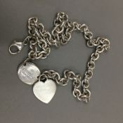 A Tiffany & Co silver necklace (66 grammes)