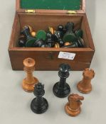 A 19th century Staunton pattern Jacques chess set