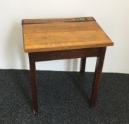 A vintage child's school desk