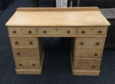 A Victorian pine desk