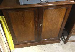 A Victorian mahogany side cabinet