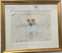 GILL EVANS (20th century), British, Terrier and Slipper, limited edition print, 619/850, signed,