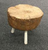 A 19th century elm chopping block