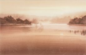 NAOMI TYDEMAN (20th/21st century) British, Morning, watercolour, signed, framed and glazed.