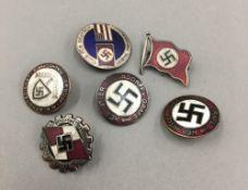 Six Nazi badges