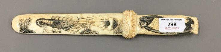A bone dagger