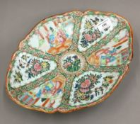 A Canton famille rose oval dish