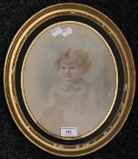EDITH SCANNELL (19th/20th century) British, Pamela, watercolour, signed, oval framed and glazed,