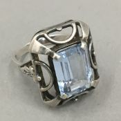 A German Art Deco silver ring