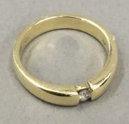 A 14 ct gold diamond set ring (5 grammes total weight)